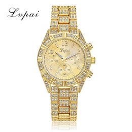 Wholesale Ladies Rose Gold Chronograph Watch - Women Dress Watch Gold Rhinestone Luxury Steel Wristwatches Women Ladies Casual Fashion Dress Gift Watch Gold Sliver Rose Gold Quartz Watch