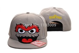 Wholesale Fashion Cookies - 2017 New Arrival Fashion Wholesale Cartoon Adults Snapback Cap Hat Cookie Monster Elmo Oscar Sesame Street