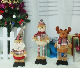 Wholesale Happy Plush - 2017 happy new year 3 style Telescopic rod Santa Claus Christmas Eve children's Christmas gifts office for Christmas decorations