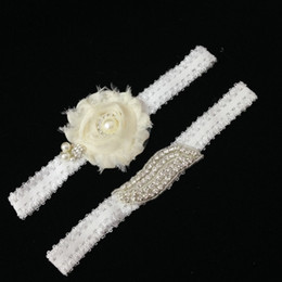 Wholesale Vintage Wedding Garter Sets - Wholesale-Ivory Wedding Garter Set Rhinestone Beaded Garters Vintage Bridal Gift