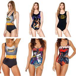 Wholesale Swimwear Bikini Tops - BATMAN Bikini Women Swimsuit BAT MAN Swimwear Bat Hero One Piece Swimming Swim Suit Beach 3D Digital Printing Top Vest Bras SJBMY LNSst