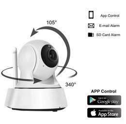 2017 Ev Güvenlik IP Kamera WiFi Kamera Video Gözetim 720 P Gece Görüş Hareket Algılama P2P Kamera Bebek Monitörü Zoom cheap ip security cameras nereden ip güvenlik kameraları tedarikçiler