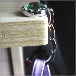 Wholesale Hangers For Handbags - Free shipping Blank DIY Foldable Handbag Hook Bag Hanger folding purse hook for Restaurant Table wen4450