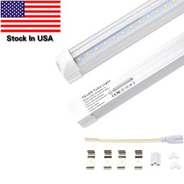 Wholesale Fixture Cover - 25-Pack,8ft,65W LED Dual-sided V-shape Integrated fixture, AC100-277V,SMD2835 Clear Cover,Cool White 6000K, LED Cooler Door Lights