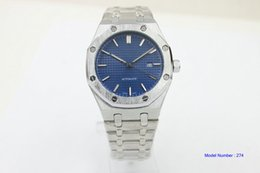 Wholesale Gents Bracelets - man Luxury High Quality Royal 2813 Automatic Mechanical Mens Watch 15400ST.OO.1220ST.03 Blue Dial Stainless Steel Bracelet Gents Watches