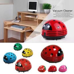 Wholesale Mini Vacuum Cleaner Desktop - Mini Ladybug Desktop Coffee Table Vacuum Cleaner Dust Collector for Home Office