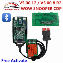 Wholesale Tcs Cdp Bluetooth - 2017 WOW SNOOPER V5.00.12 V5.008.R2 Bluetooth NEC Relays WOW OBD2 Diagnostic Tool For Car Truck Better Than MVDiag TCS CDP PRO