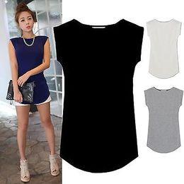 Wholesale Juniors Tees - 2017 Women Junior Basic Plain Casual Modal Cap Sleeve Slim O-Neck Tee Shirt Tops