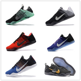 Wholesale Hot Pink Womens Shoes - HOT Kobe 11 Basketball Shoes Sneakers Mens Womens Kids White Bryant Kobes XI Elite Sports KB 11s EP Trainer Sports Shoes Size:36-46