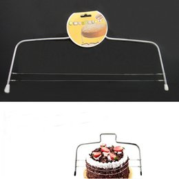 Wholesale leveler tool - Baking Pastry Tools Adjustable Wire Cakes Slicer Leveler Stainless Steel Slice For Double Line Cake Layered Hot Sale 2 8jh J R