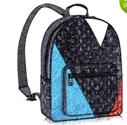 Wholesale Letter Backpacks - Europe Designer Brand N41612 Damier Cobal Mens Backpacks High Quality School bag