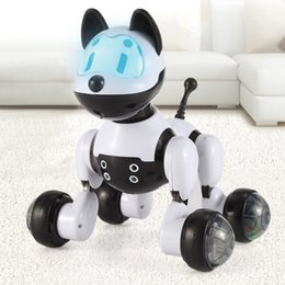 Wholesale Dog Remote Sound - NEW PINK BLACK SMART KIDS TOY DOG CAT INFRARED REMOTE CONTROL SERIES RC CUTE ROBOT