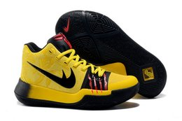 Wholesale Red Release - 2017 New Released Kyrie Irving 3 Bruce Lee Black Yellow  Black Red Basketball Shoes Top Quality Mens Sports Sneakers Size 40-46