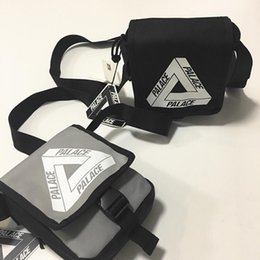 Wholesale Triangle Cell Phone - Palace Bags triangle graffiti black and white covered woman male postman messenger shoulder bag Luxury Famous Brand YYA659