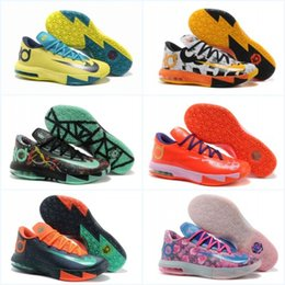 Wholesale Cheap Kd Vi - With Box Cheap Basketball Shoes KD 6 VI What the Sports Shoes Basket Ball Boots Mens Trainer Kevin KD VI 6 Athletics Footwear Sneakers