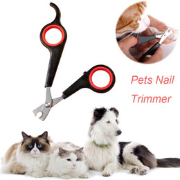 Wholesale Cats Nail - Lowest Price 500pcs Pet Dog Cat Care Nail Clipper Scissors Grooming Trimmer 7 colors with DHL free shipping