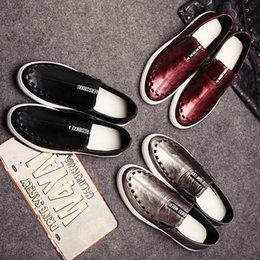 Wholesale Canvas Boat Sneakers - Fall 2016 new lazy man leather shoes, Loafers for Men Casual Men Shoes manufacturer wholesale sneakers loafers Slip On Mens Flat Shoes Boat