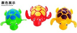 Wholesale Wind Up Toys Free Shipping - Wind up Swimming Funny Turtle Turtles Pool Animal Toys For Baby Kids Bath Time Free Shipping wd001