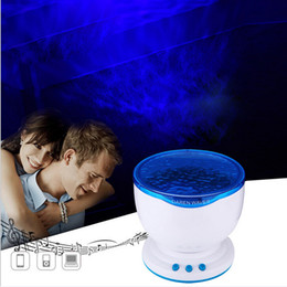 Wholesale Led Ocean Lamp - NEW LED Night Light Projector Ocean Daren Waves Projector Projection Lamp Night Light For Birthday gift