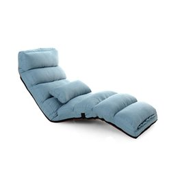 Wholesale Fabric Sofas Sets - Adjustable Single Folding Legless Comfortable Sofa Bed With Head Waist Feet Adjusting Set Multiple Fabric Colors
