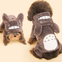 Wholesale Wholesale Designer Winter Jackets - Coral velvet dog winter clothes with 4 feet Chinchilla designer pet clothes dog thermal cotton clothing 5 size L027