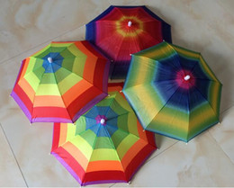 Wholesale Wholesale Outdoor Umbrella Fabric - New Arrive Usefull Umbrella Hat Sun Shade Camping Fishing Hiking Festivals Outdoor Brolly