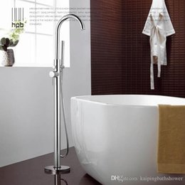 Wholesale Round Metal Tub - brass toilet tub floor-standing bathtub shower faucet floor stand faucets