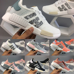 Wholesale Womens Fashion Flat Shoes - 2017 New NMD Runner R1 boost fashion Women Running Shoes Womens Sneakers Sports shoes nmds boost mesh Primeknit shoes size eur 36-40