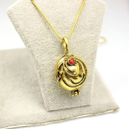 Wholesale Vintage Vampire Diaries Jewelry - Movie Vampire Diaries Necklace Elena Gilbert Vintage Vervain Verbena Crystal Pendant Jewelry For Men And Women Gifts Wholesale