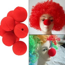 Wholesale Magic Wedding Dresses - 10Pcs lot Adorable Red Ball Sponge Clown Nose for Wedding Party Decoration Christmas Halloween Costume Magic Dress Accessories