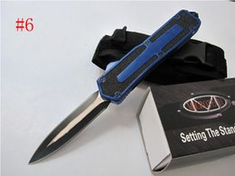 Wholesale Micro Aluminum Box - 7 Styles MICROTECH SCARAB 440C Steel 58HRC Aluminum Handle Tactical Knife Micro Camping Tool With Retail Box F246E