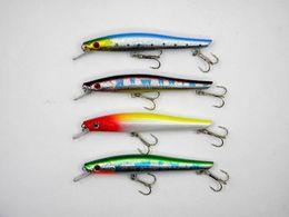Nouveaux leurres de pêche réalistes en Ligne-Nouveau 3D Eyes Lifelike Fishing Lure avec Treble Hooks 14.5 cm 18g Pêche en mer en plastique dur appâts de pêche Tackle livraison gratuite