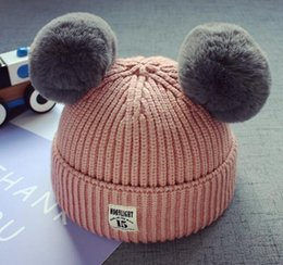 Wholesale Christmas Winter Hats - new winter kids hats caps wool best quality free shipping