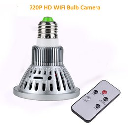 Wholesale Cmos Bulb Cctv Security Cameras - HD 720P Wifi IP Camera Baby Monitor 2 in 1 LED Bulb CCTV Camera Home Security for Smartphone Tablet PC