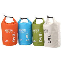 Wholesale Waterproof Bag 5l - Travel Totes Hot 5L Swimming Travel Kits Orange White Green Blue Ultralight Outdoor Camping Travel Rafting Waterproof Dry Bag