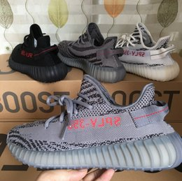 Wholesale Bold Orange - 2017 New Beluga 2.0 Dark Grey Bold Orange Boost 350 V2 SPLY-350 Running shoes Beluga V2 Free Shipping