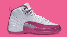 Wholesale rubber dynamics - 2016 Cheap Brand Dan 12s XII GS Valentines Day Dynamic Pink Women Basketball Sports Shoes Original 12 Sneakers 36-40