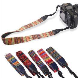 Wholesale New Canvas Dslr Camera - New Colorful Vintage Style Canvas Camera Shoulder Neck Strap Belt for Nikon Canon Sony DSLR Camera