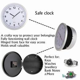 Relógio de parede de segurança on-line-Caixa de armazenamento Relógios Escondidos Relógio de Parede Secreto Seguro Dinheiro Stash Caixa de Jóias Recipiente De Armazenamento De Jóias Caixa de Travamento de segurança caso caixa de comprimido LZ027