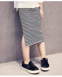 Wholesale Winter Stripe Skirt - Summer girl skirt kids stripe skirt kids casual clothes for 1~5 years kids 4 p l