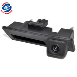 Wholesale Vw Backup Camera - Wholesale-CCD HD Waterproof Car Runk Handle Parking Rearview Backup camera Case For Audi VW Passat Tiguan Golf Touran Jetta Sharan Touareg