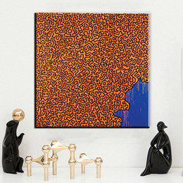 Wholesale Frame Original Oil Painting - Keith HARING 1986 Original Pop ART GICLEE poster oil painting print on canvas wall painting no frame wall pictures