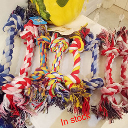 Wholesale Free Puppy Supplies - Dog Toy Bone Double Knot Toy Pets Chews 21CM Pet Supplies Puppy Cotton Chew Knot Durable Braided Rope Funny Tool Free Shipping XL-G195