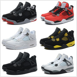 Wholesale Wedge Boots Online - Wholesale Retro 4 Basketball Shoes Men Cheap J4 IV Boots Authentic Online For Sale Sneakers Mens Sport Shoes Free Shipping Size 7-13