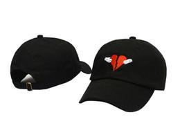 Wholesale Business Hats - Black HEARTBREAKER EMBROIDERED UNSTRUCTRED DAD CAP HAT HEARTBREAK HEART NEW casquette Kermit None of my Business Dad Hat kanye west bear cap