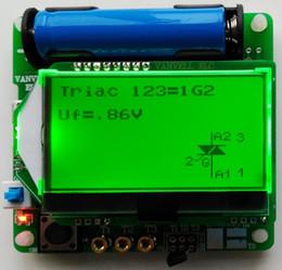 Wholesale Esr Capacitor Meter Tester - Wholesale-new 3.7V version of inductor-capacitor ESR meter Transistor Tester DIY MG328 multifunction test