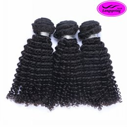 Wholesale 24 Inch Indian Remy Hair - Brazilian Curly Peruvian Malaysian Indian Virgin Human Hair Extensions Natural Black Brazilian Kinky Curly Beauty Remy Human Hair Weaves
