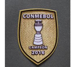 2016 stickerei Parche Chile Conmebol Patch De Amerika Copa Amerika Campeon 2016 Champions Sanchez Vidal Fußball Patch Kostenloser versand! von Fabrikanten