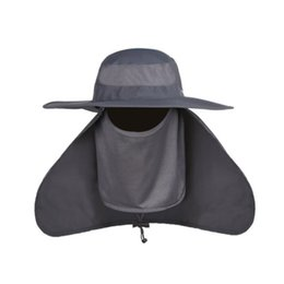Wholesale Jungle Mesh - Wholesale-Fashion Brand Mosquito Cap Women Men Midge Fly Insect Bucket Hat Fishing Camping Field Jungle Mask Face Protect Cap Mesh Cover