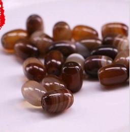 Wholesale 18mm Gemstone Beads - Wholesale Agate Beads Gemstones 14mm 18mm Assorted Nature Sardonyx Barrel Waist Hand string beads Bracelet Beaded Jewelry Accessories Brown